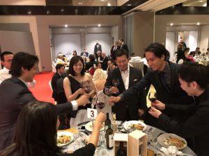 日本ワイン桔梗ヶ原メルローで祝杯